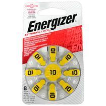 Cartela com 8 Baterias Auditivas Energizer 10 -