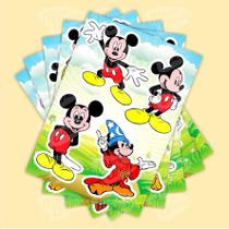 Cartela De Adesivos - Mickey Mouse - Micro oficina