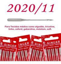 Cartela de agulha singer algodao n202011 c/5 - 2un -