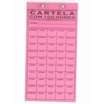 Cartela de rifa com 100 nomes pacote com 50 unidades - tamoio -