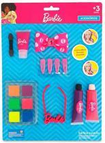 Cartela maquiagem para boneca kit com  pupee - -
