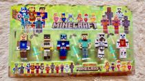 Cartela Minecraft Kit Infantil com 12 peças heróis Oferta - Minecrat