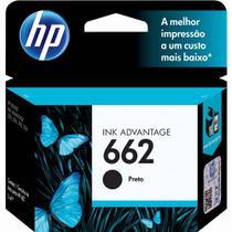 Cartucho de Tinta HP 662 Preto Ink Advantage CZ103AB - Hp Cartuchos