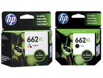 Cartucho de Tinta HP 662XL Colorido - Original + Cartucho de Tinta HP 662XL Preto