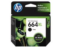 Cartucho de Tinta HP 664 XL PRETO F6V31AB 8,5 ml Original NF