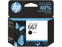 Cartucho de Tinta HP 667 Preto -