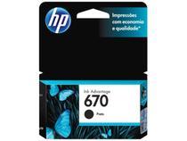 Cartucho de Tinta HP 670 Preto - Original