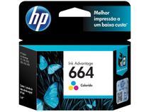 Cartucho de Tinta HP Colorido 664 Original P/ - HP 2136 2676 3776 5076 5276