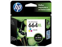 Cartucho de Tinta HP Colorido 664 XL Original P/ - HP 2136 2676 3776 5076 5276