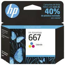 Cartucho de Tinta HP Colorido 667 100 Páginas -
