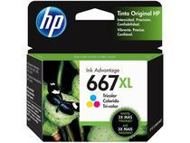 Cartucho de Tinta HP Ink Advantage 667 XL - Colorido