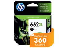 Cartucho de Tinta INK Advantage HP Suprimentos CZ105AB HP 662XL Preto 6,5 ML