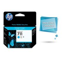 Cartucho de Tinta Plotter Hp CZ134AB 711 29 ML (Pack C/ 3 Unidades) Ciano