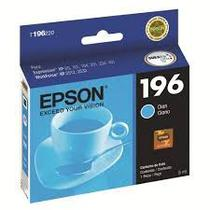 Cartucho epson 196 t196 jato x401 xp2512 azul 3ml - original -