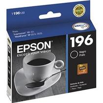 Cartucho epson 196 t196 jato x401 xp2512 preto 4ml - original -