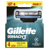 Cartucho Gillette Mach 3 - 4 Unidades - Gillete -