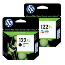Cartucho hp 122 xl Preto 8ml  cartucho hp 122xl color 6ml