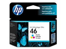 Cartucho HP 46 Tricolor CZ638AL 16 ML - Hp suprimentos