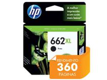 Cartucho HP 662XL Preto 6,5ML - CZ105AB