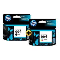 Cartucho HP 664 colorido F6V28AB + Cartucho HP 664 preto F6V29AB HP -