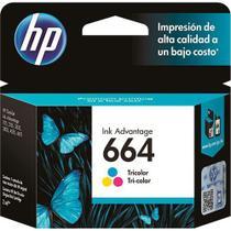 Cartucho HP 664 Colorido Original (F6V28AB) Para HP Deskjet 2136, 2676, 3776, 5076, 5276 -