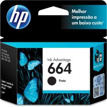 Cartucho HP 664 Preto Impressora Deskjet Ink Advantage 1115 2136 3636