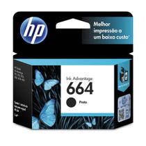 Cartucho hp 664 preto original - f6v29ab