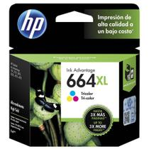 Cartucho HP 664XL F6V30AB Ink Advantage Tricolor para 1115 2136 3636 3836 4536
