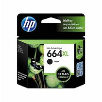 Cartucho hp f6v31ab 6,5ml preto(664xl) / un / hp