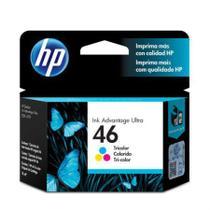 Cartucho HP Original (46) CZ638AL - cores rendimento 750 páginas -