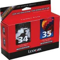 Cartucho Lexmark 34 35 kit 2 cores -