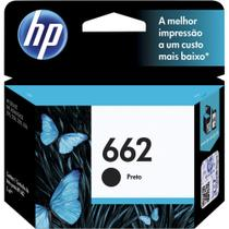 Cartucho Original HP  662 Preto Ink Advantage CZ103AB - 3546 / 1516 / 2546 / 2646 / 4646