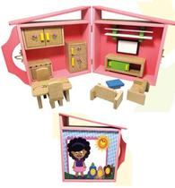 Casa Boneca Barbie Polly Pocket Lol Maleta Articulada - Fd