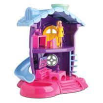 Casa Casinha de Boneca Sala de Tv Judy Tipo Polly Acessórios - Samba Toys
