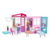 Casa Da Barbie Boneca Fashion Glam Com Boneca Mattel -