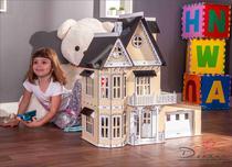 Casa de Bonecas Compatível com Lol e Polly  Garagem  mod. Anne Crem - Darama -