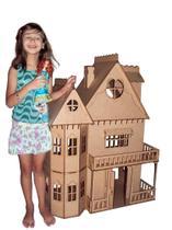 Casa de bonecas Escala Barbie Modelo Emily Natural - Darama -