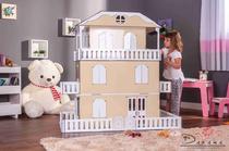 Casa de Bonecas Escala Barbie Modelo Suzan Crem - Darama -