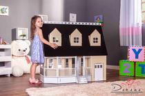 Casa de Bonecas Escala Barbie Modelo Victória Crem - Darama -