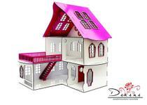 Casa de bonecas para mini bonecas compatível com lol e polly modelo cindy sonhos - darama -