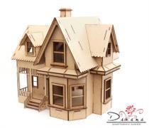 Casa de bonecas para mini bonecas compatível com lol e polly modelo ivy natural - darama -