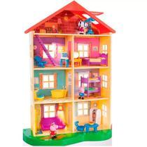 Casa Gigante da Peppa Pig com  7 Ambientes  e 11 Acessórios - Sunny -