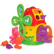 Casa Moinho - Smoby Baby - Vermelho e Laranja - Gulliver -
