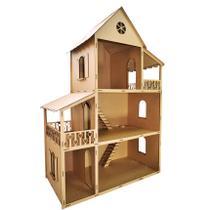 Casa Para Boneca Barbie Desmontada 129x88x42,5 Mdf Madeira - Atacadão Do Artesanato Mdf