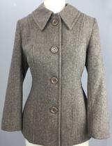 casaco acinturado lã feminino - bege P - ALEX