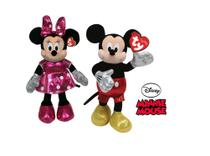 Casal de Pelúcia Minnie Mouse Rosa e Mickey Mouse TY DTC -