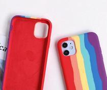 Case Arco Iris Capa Capinha silicone aveludada antiqueda iphone  7 8 PLUS 11 11 PRO MAX  XR 12 lgbtqia+ - Acessório Iphone