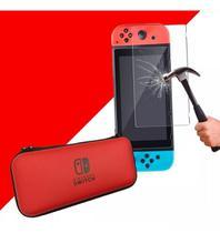 Case Capa Estojo Nintendo Switch Vermelho Pelicula Vidro - Oivo