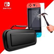 Case Capa Estojo Proteção Nintendo Switch  com Pelicula Vidro - Oivo