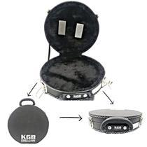 Case De Pandeiro 10 Male Kgb Extra Luxo Forrado Preto -